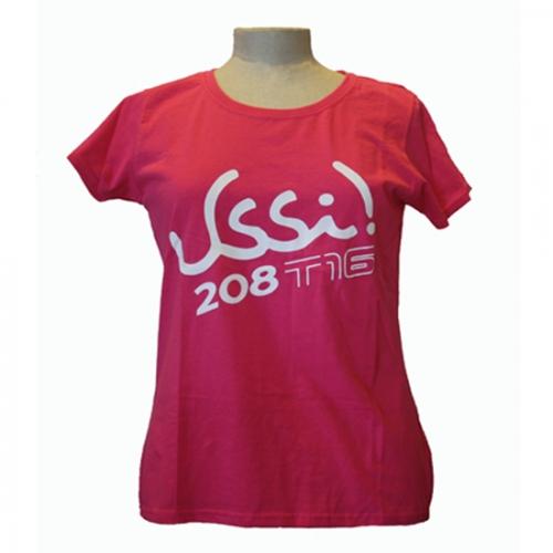 T-shirt donna fucsia fronte
