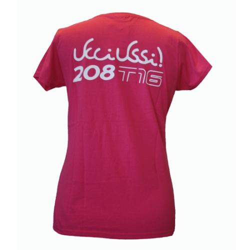T-shirt donna fuscia retro