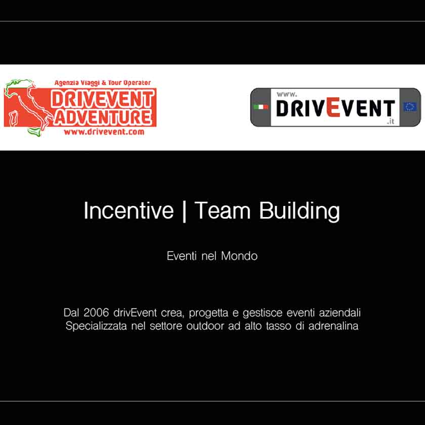 Incentive e Team Building con drivEvent