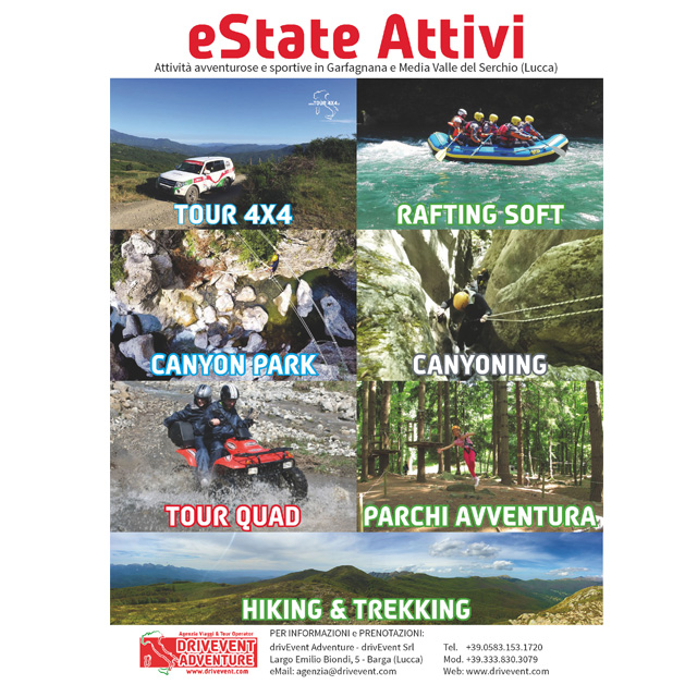 Estate attivi drivevent adventure - Canyon park parco avventura bagni di lucca lu ...