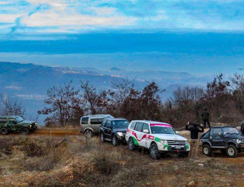 TOUR 4X4 e SUV sul Lago di Garda 2019, sugli sterrati vista lago d'inverno
